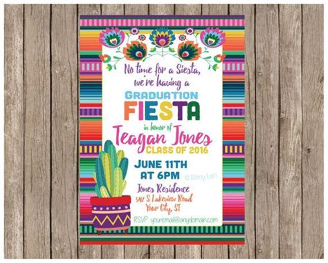 fiesta invitations ideas  pinterest mexican
