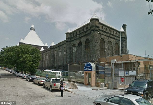 Under gang control: The Baltimore City Detention Center (pictured) was reportedly run by the gang-member inmates who seduced female prison guards who they felt had 'low self-esteem'