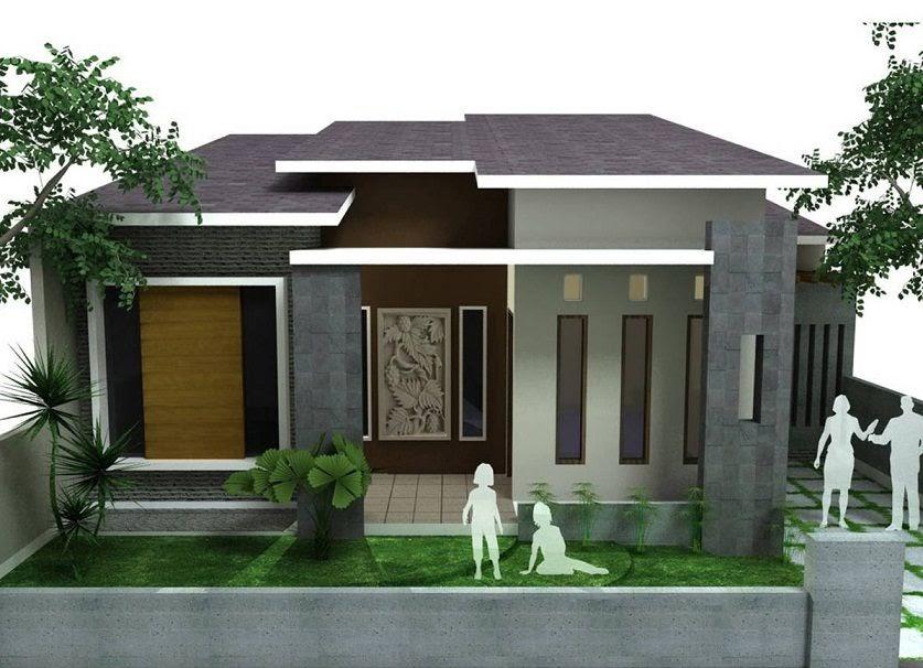 Gambar Rumah Minimalis Joglo Tampak Depan Motif Populer