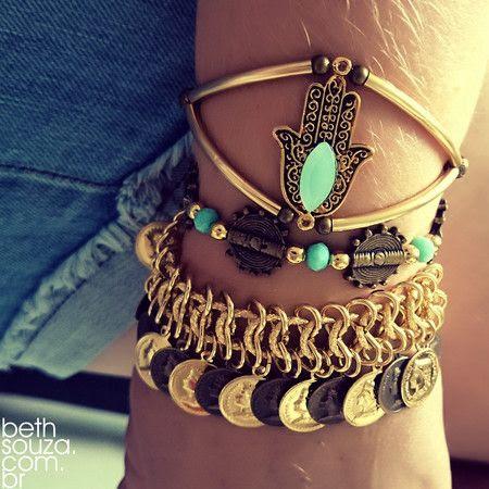 Kit Energy pulseirismo verão 2015,acessórios proteção,pulseira moedas,pulseira hansa,pulseiras verão 2015. www.bethsouza.com.br
