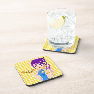 Sushi Girl corkcoaster