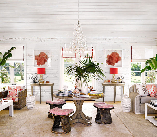 Alessandra Branca Interior Design, Chic Bahamas Retreat featured in Lonny Magazine August 2014, on Savvy Home Blog