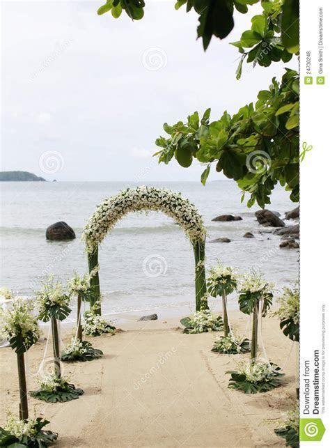 Beautiful Beach Wedding Set up. Royalty Free Stock Photos
