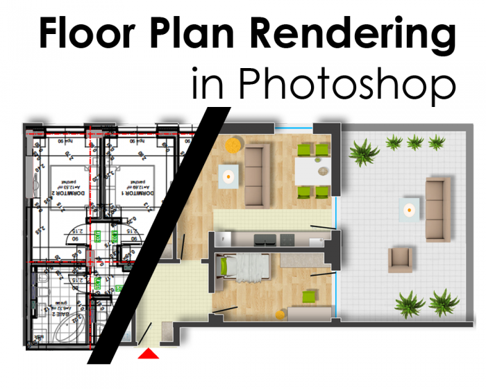 Floor Plan Rendering In Photoshop Arch Studentcom