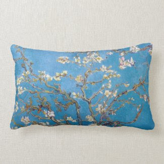 Branches with Almond Blossom Van Gogh Throw Pillow