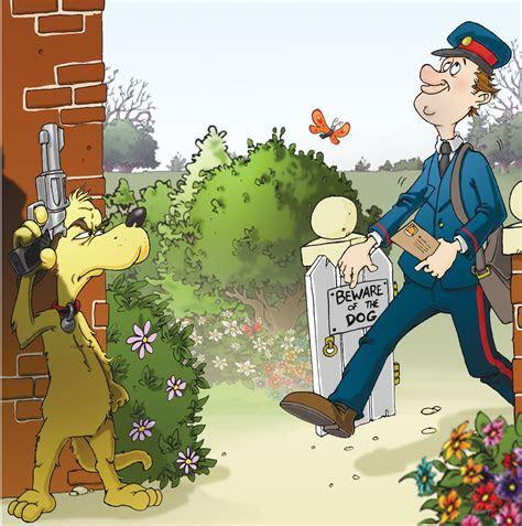 Funny Postman and Dog Card FRA14