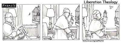 Francesco comico teologia della liberazione