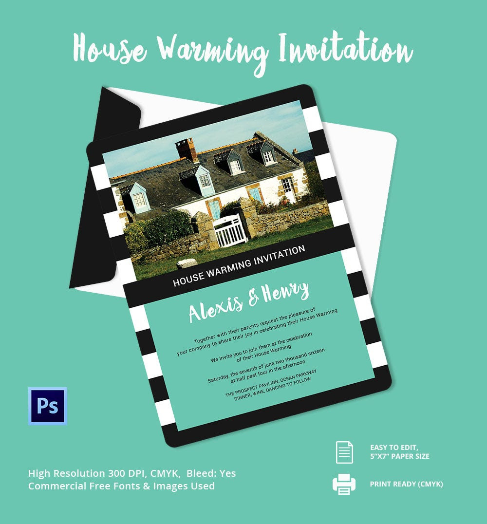 House Warming Invitation Editable - Undangan Unik