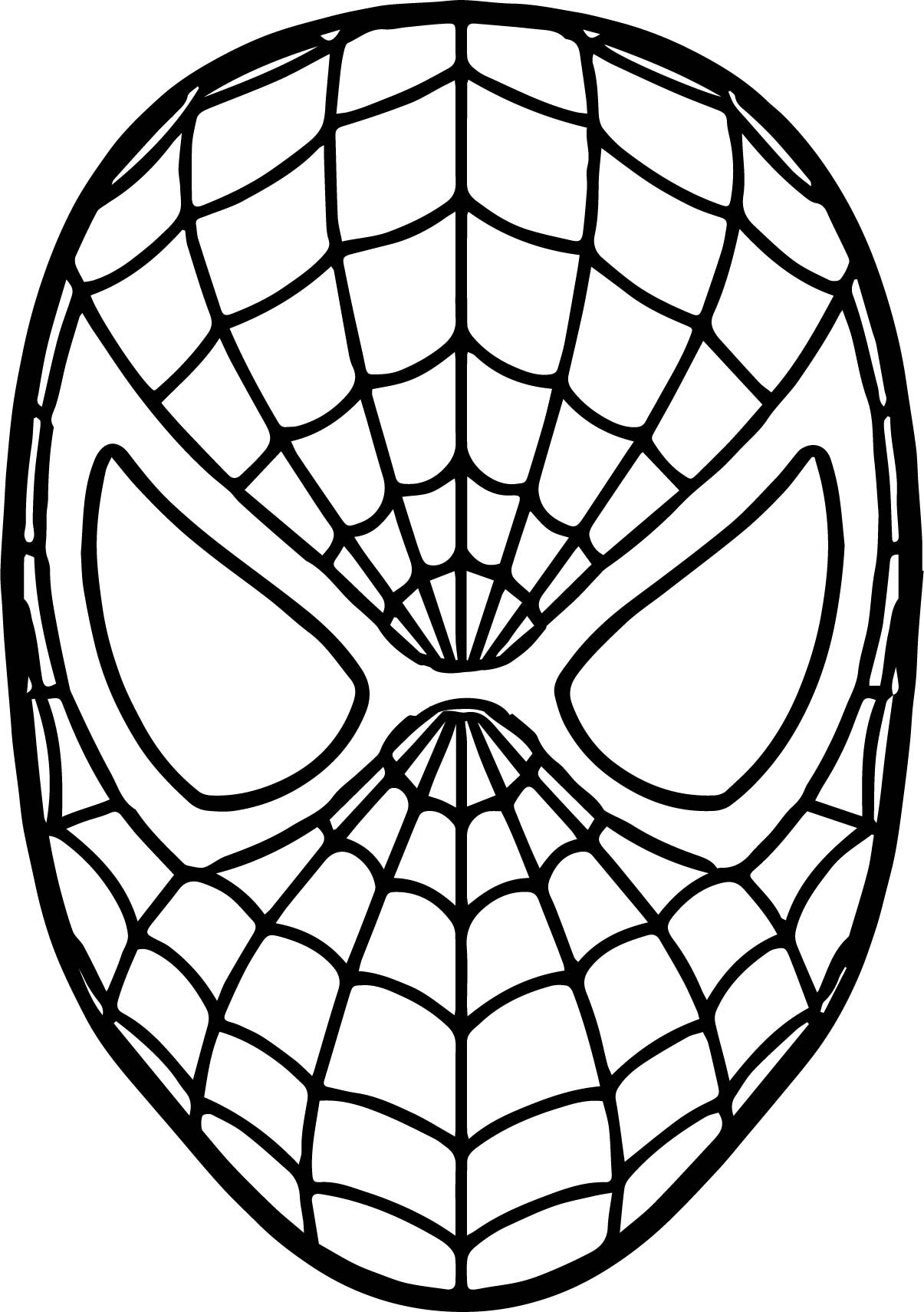 Coloring pages kids: Spiderman Mask Coloring Sheet
