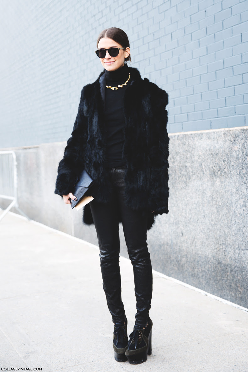 Street style new york fashion week fall winter 2014 2015 Street style ny fashion week fall 2015