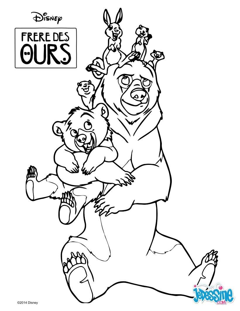 Coloriages Les Animaux De Frère Des Ours Frhellokidscom