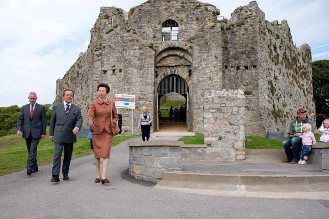 Princess Ann at Oystermouth Castle (Wales Online)