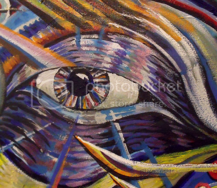 interdimensional mallard,acrylic painting,broken vulture art,bingorage,native art,ojibway