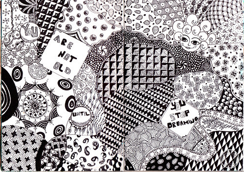 sketchbook - zentangle 1
