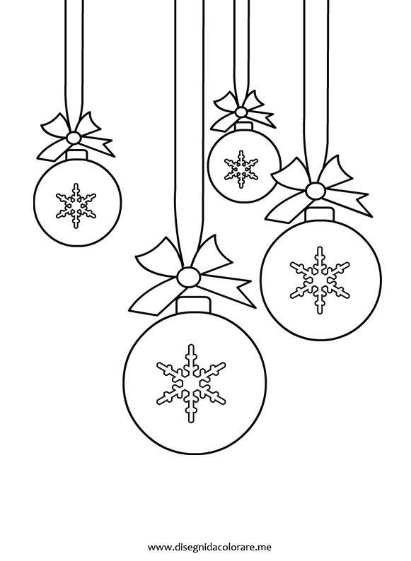 Palline Albero Di Natale Da Colorare Disegni Da Colorare
