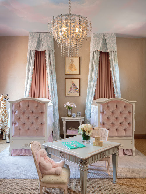 Twin Baby Room Home Design Ideas, Pictures, Remodel and Decor