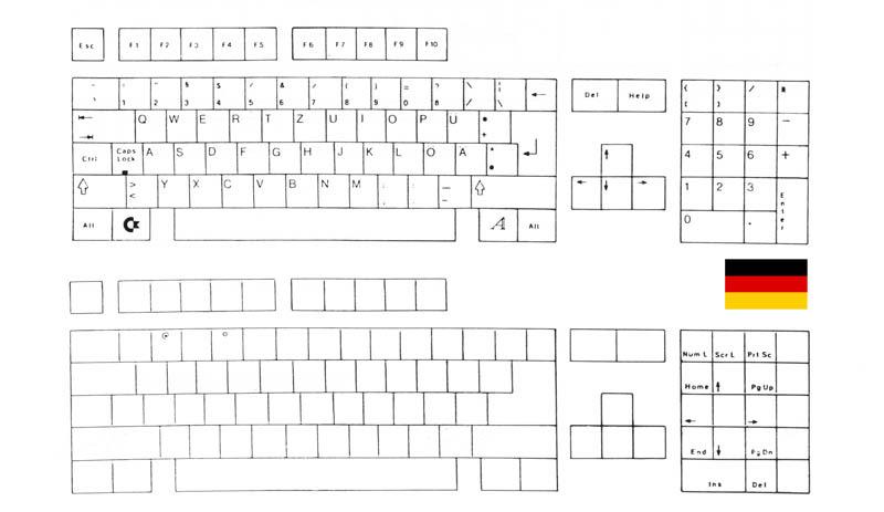 teclado Alemán Amiga 500