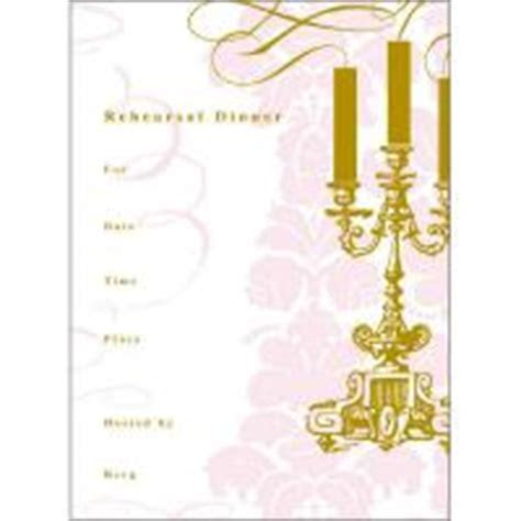 Pink and Gold Rehearsal Dinner Invitation