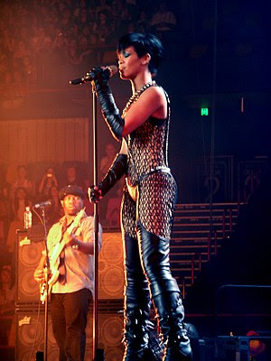 Rihanna and Chris Brown concert. Brisbane Ente...
