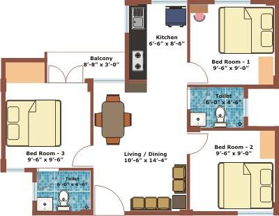 Apartment Floor Plans 1 Bedroom With Den