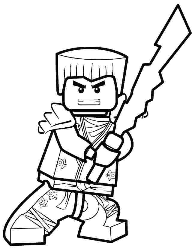 Lego Ninjago Lloyd Coloring Pages Coloring Pages Kids