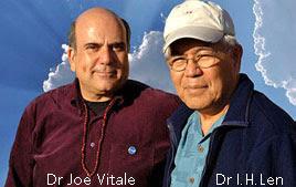 Foto del Dr. Joe Vitale y el Dr. Ihaleakalá Hew Len