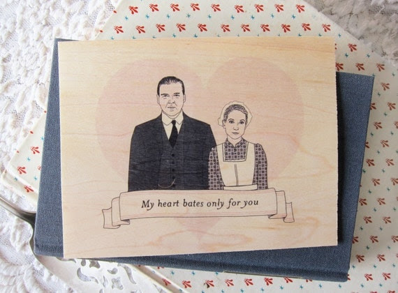 Downton Abbey Valentine Card. Free Shipping