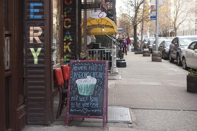 Outside Pinisi Bakery, nyc