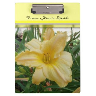 Yellow Lily Flower Clip Board Clipboard