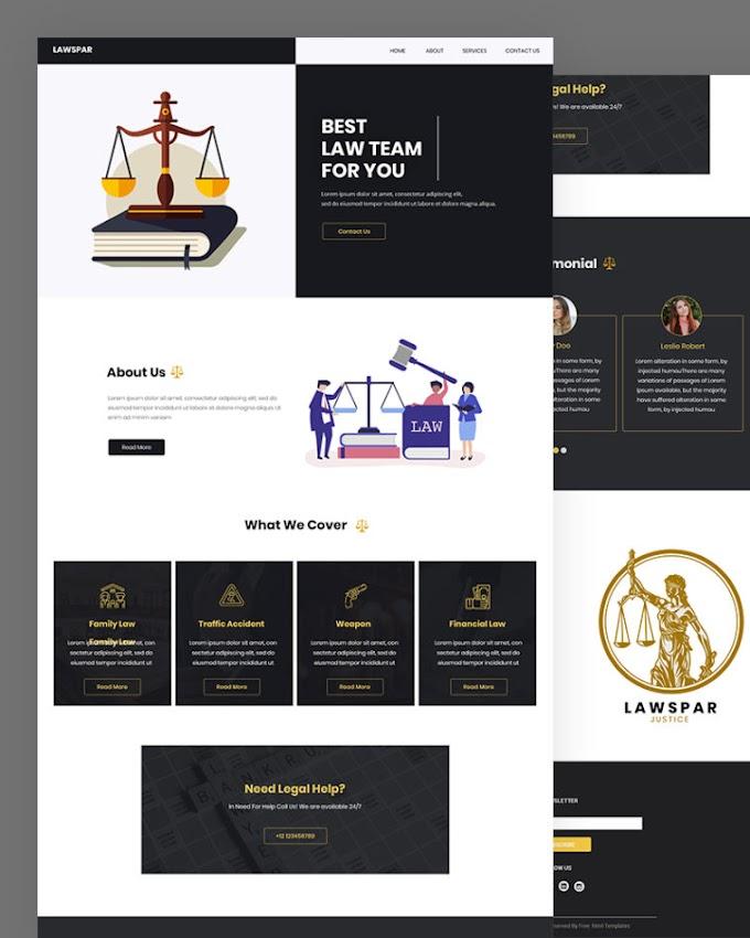 Lawspar – Free Law HTML Website Template