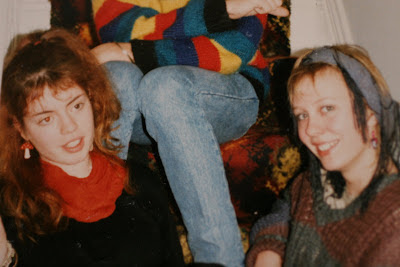 picture photograph sam and sheena circa 1986 2007 copyright of sam breach and christine burridge http://becksposhnosh.blogspot.com/