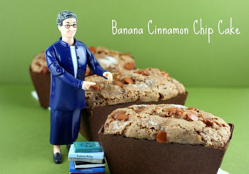 Banana Cinnamon Chip Cake