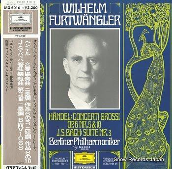 FURTWANGLER, WILHELM handel; concerti grossi op.6 nr.5&10