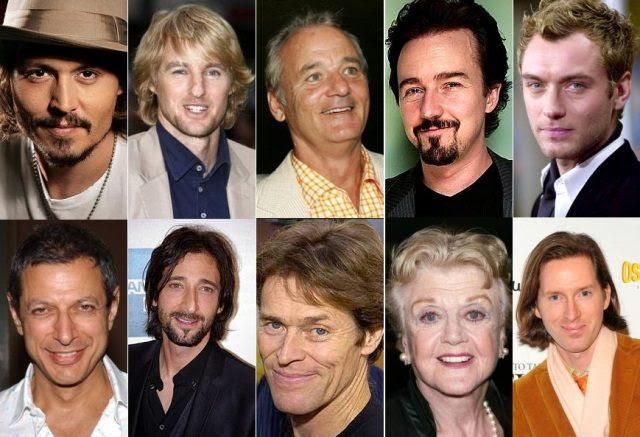 Depp, Wilson, Murray, Norton, Law, Goldblum, Brody, Dafoe, Lansbury e Anderson