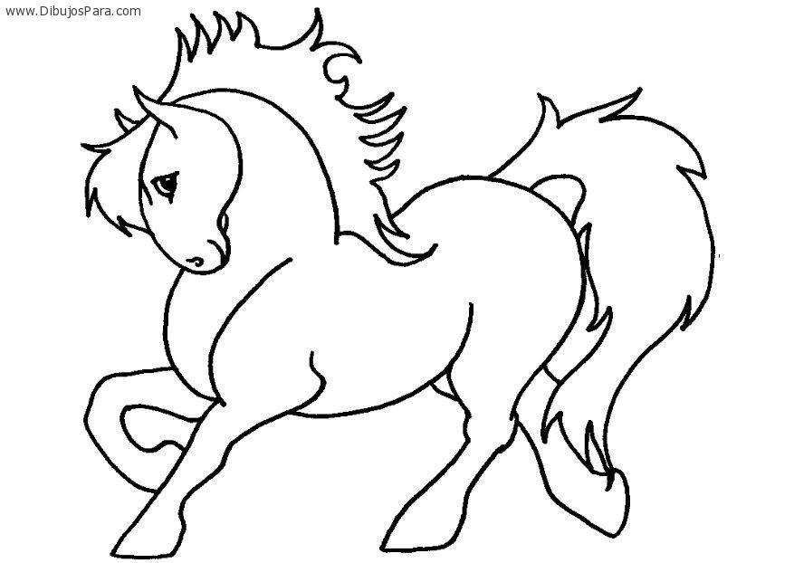 Dibujo De Caballo Pony Dibujos Para Colorear