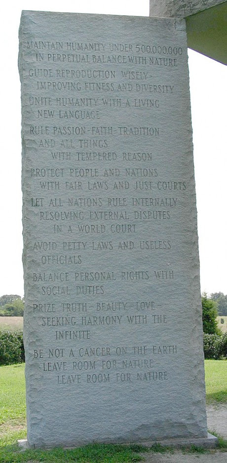 12 Pictures That Demonstrate How The New World Order Openly Mocks Us Georgia Guidestones English 460x937