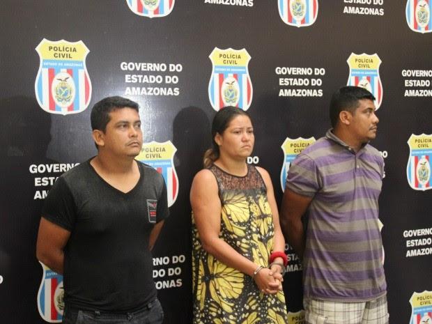 Trio negou envolvimento no crime da criança de 9 anos  (Foto: Sérgio Rodrigues/G1 AM)