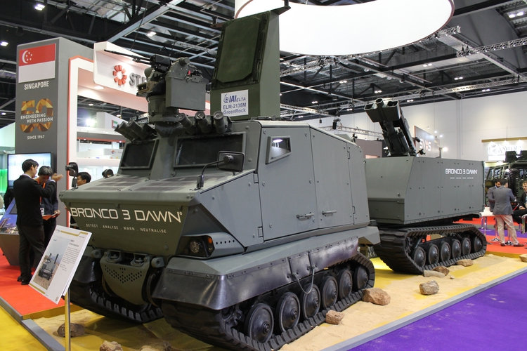 Resultado de imagen para ST Kinetics has unveiled its finalised Bronco New-Generation All-Terrain Tracked Carrier