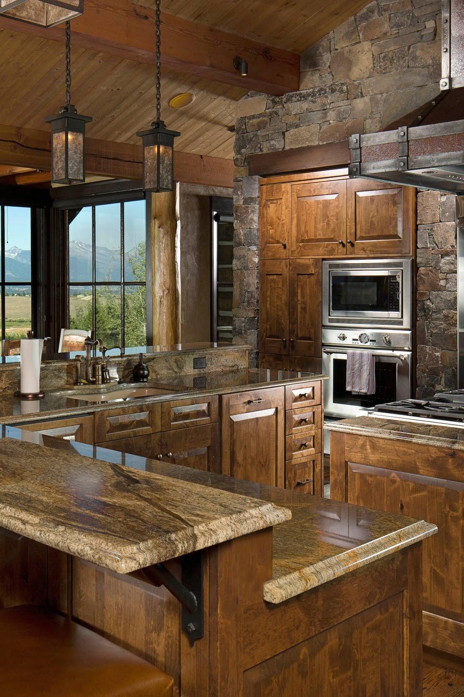 50 Popular Brown Granite Kitchen Countertops Design Ideas