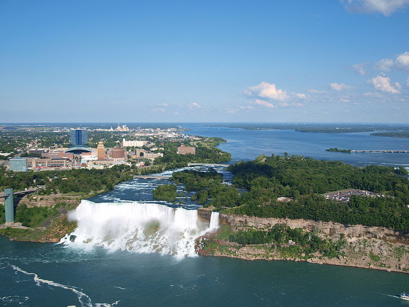 File:American and Bridal Falls as seen from Skylon Tower.jpg