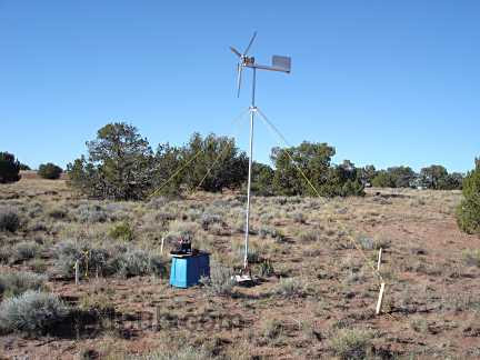 The fully assembled wind turbine