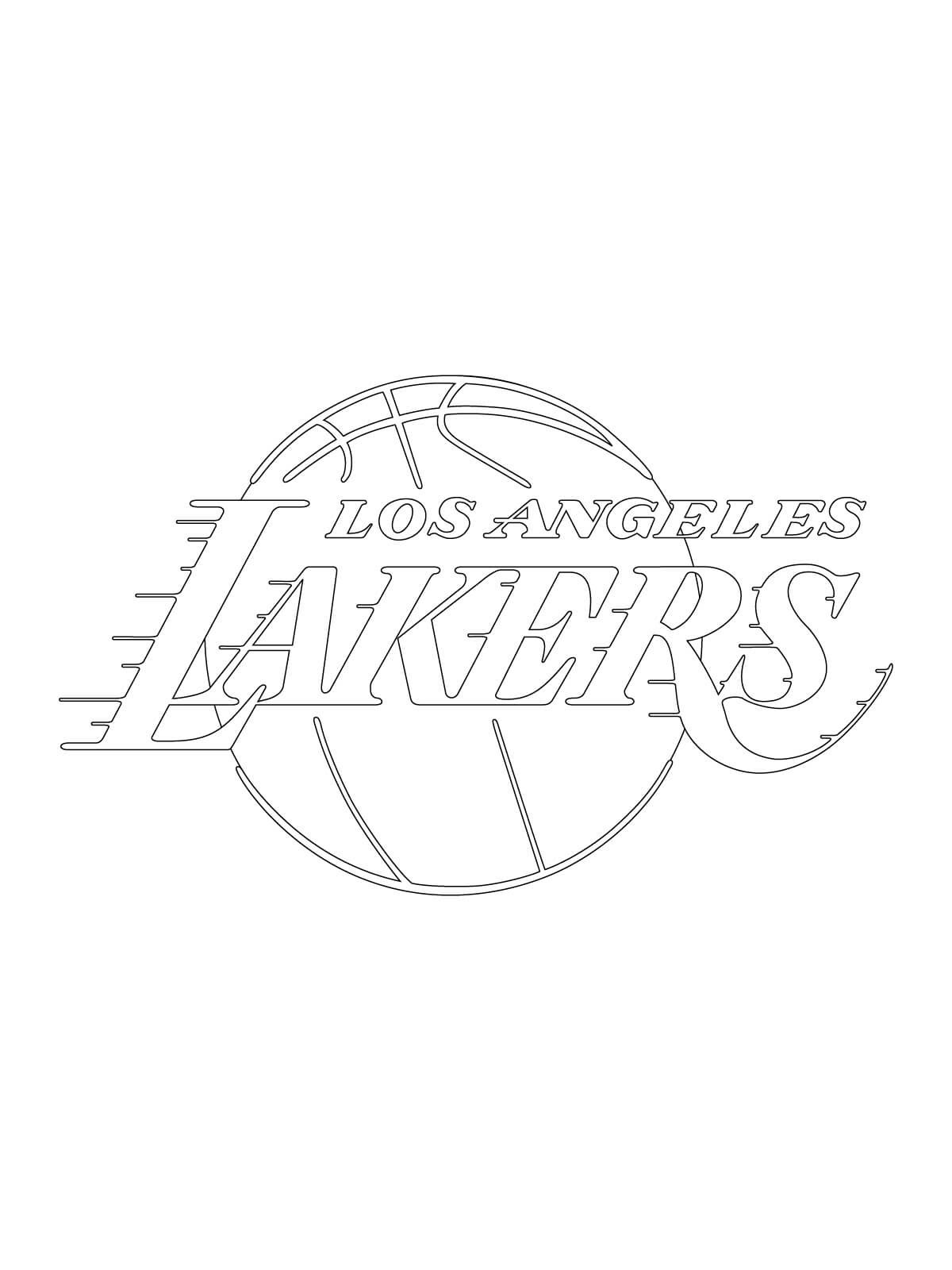 Coloriage Nba Lakers à Imprimer