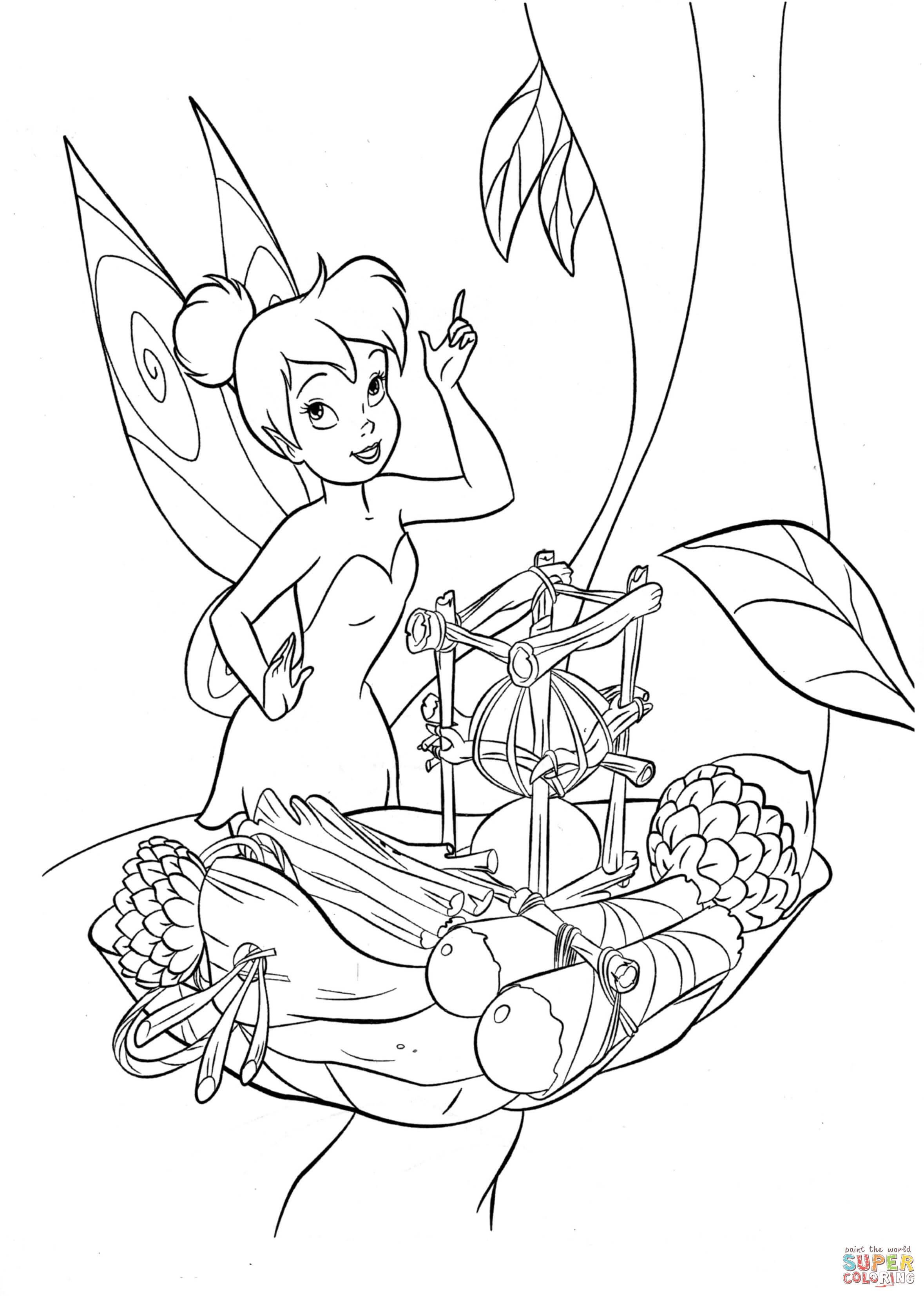 Ausmalbild: Tinkerbell versucht zu kochen | Ausmalbilder ...