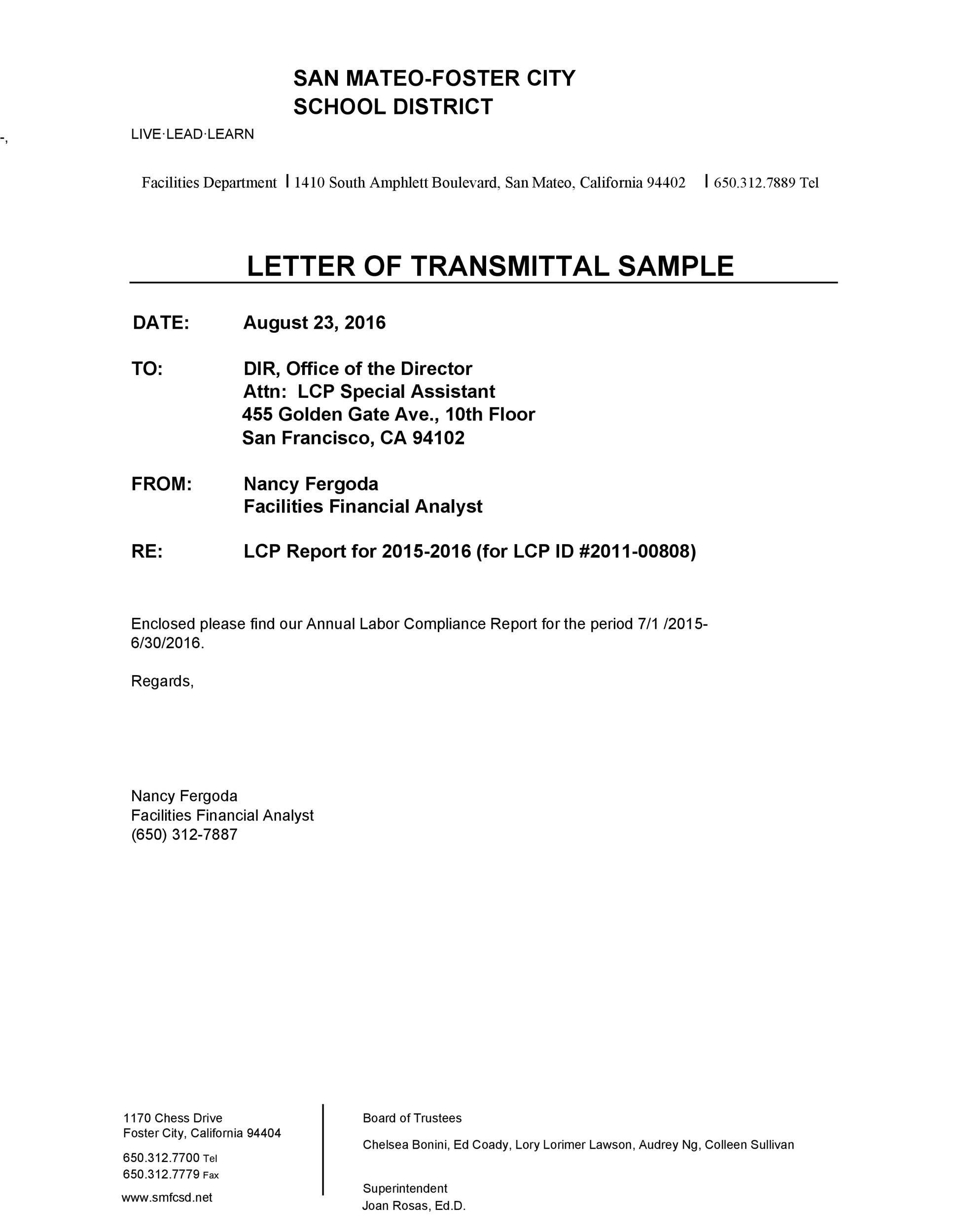 letter of transmittal template 43