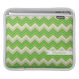 Spring Green {chevron pattern} MacBook Sleeves