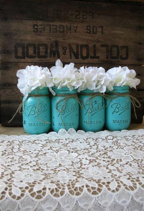 Mason Jars, Painted Mason Jars, Rustic Wedding