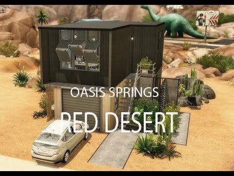 SIMS 4 || HOUSETOUR ||RED DESERT [DOWNLOAD incl. Full CC]