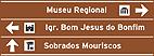 Placa Indicativa de sentido (direçao) - Pre-sinalizaçao