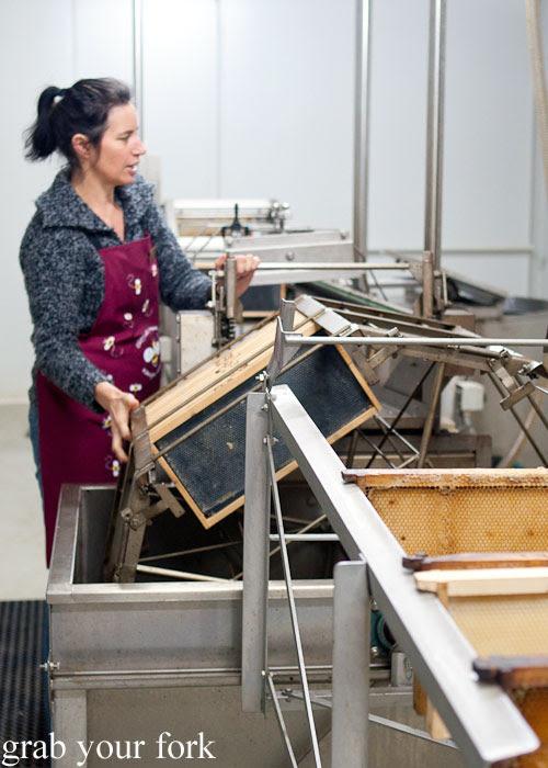 Honey extractor at Clifford's Honey Farm, Kangaroo Island
