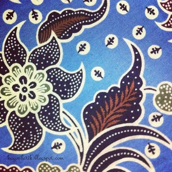 Motif Gambar Batik Bunga Yang Mudah Digambar Di Buku ...